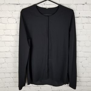 LULULEMON | collarless stretch long sleeve blouse